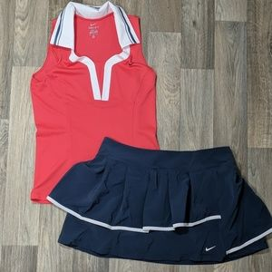 Nike Dri-FIT tennis outfit Polo and skort Medium